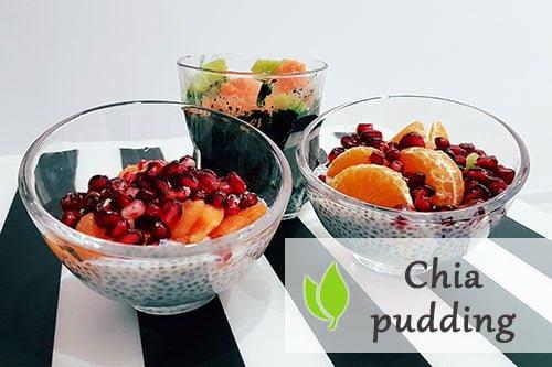 Pudding z Chia, owocami i Spiruliną
