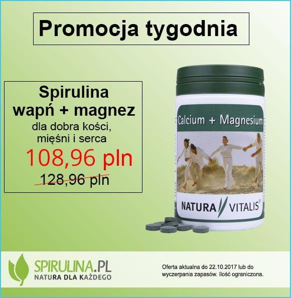 Spirulina wapń + magnez