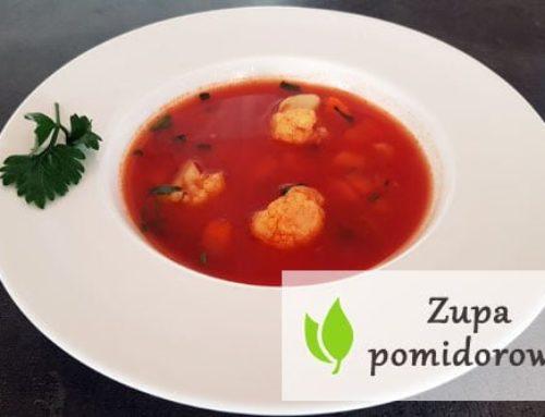 Zupa pomidorowa z kalafiorem i mozzarellą