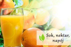 Sok, nektar, napój - czym różnią się od siebie?